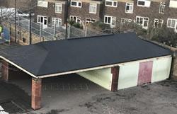 Felt roof Gallions School