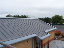 Sika Trocal standing seam roof on a school